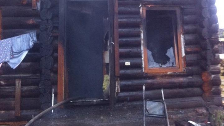 На Большой Заречной сгорел одноэтажный частный дом