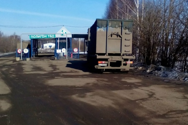 Машины с московскими номерами уже возят мусор на ярославский полигон
