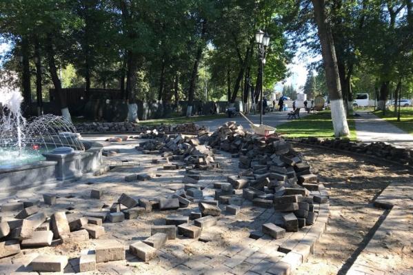 В парке снова разруха