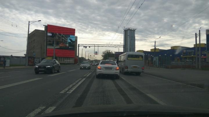 Устранят колейность: в Самаре приступили к повторному ремонту Московского шоссе