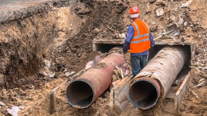 В Самаре специалисты за сутки заменили водопроводные трубы для нового дворца спорта