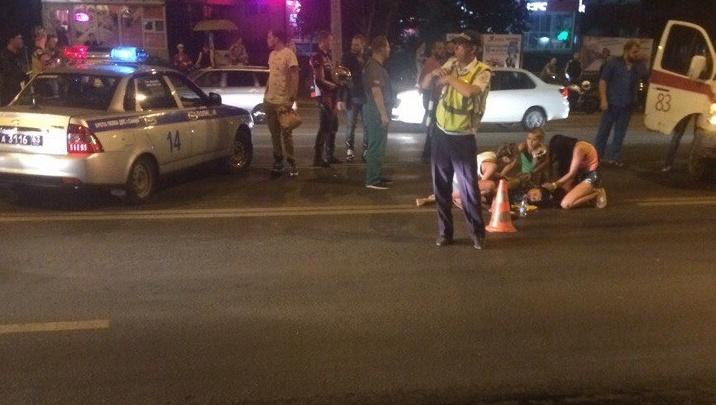 В Самаре около автовокзала мотоциклист сбил девушку