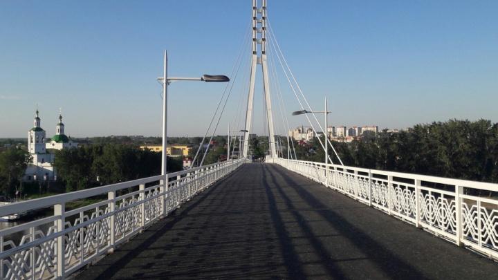 Опоры моста Влюбленных разрисуют осенью