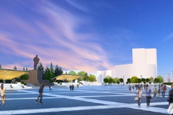 Площадь по задумке архитекторов должна стать центром притяжения горожан