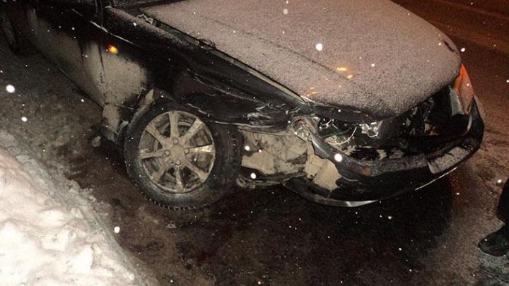 В Архангельске торопливый водитель иномарки спровоцировал ДТП на Садовой