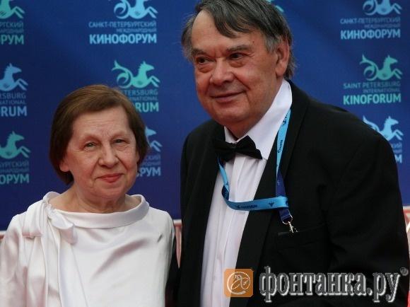 Светлана Кармалита и президент Кинофорума Алексей Герман