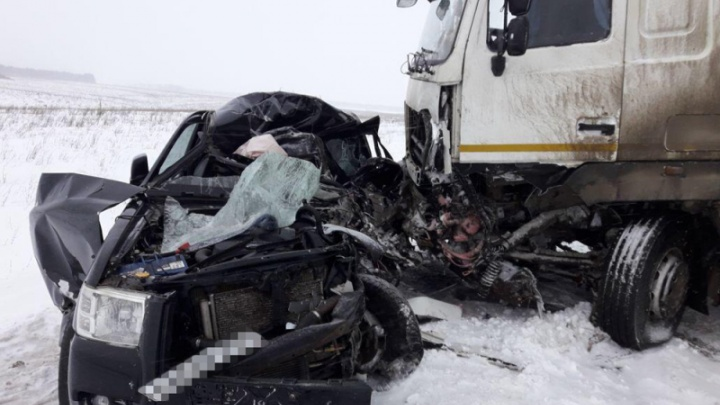 Выехал на встречку и врезался в грузовик: житель Прикамья погиб в ДТП в Башкирии