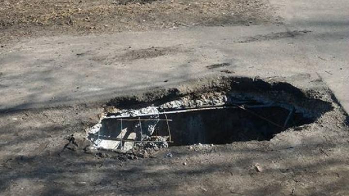 Ярославцы нашли «выход из ада»: на Пятёрке обвалился асфальт