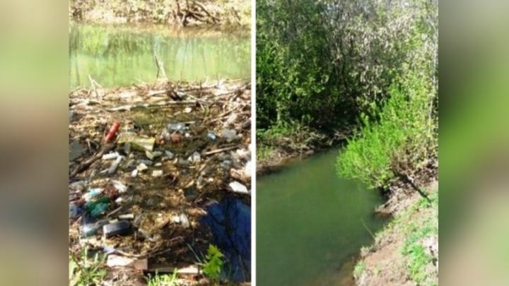 Защитим малые реки: в Перми с берегов Мулянки вывезли 200 тонн мусора