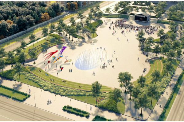 Один из проектов предполагает появление на эспланаде амфитеатра