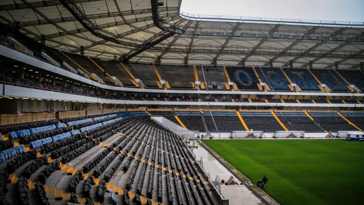 На «Ростов-Арене» установили половину зрительских кресел