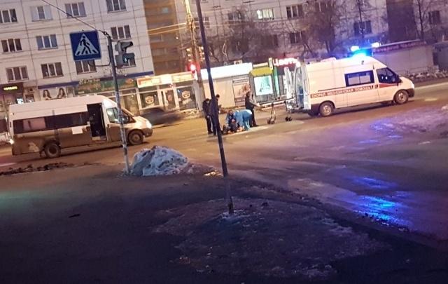 Водитель маршрутки сбил челябинца возле пешеходного перехода