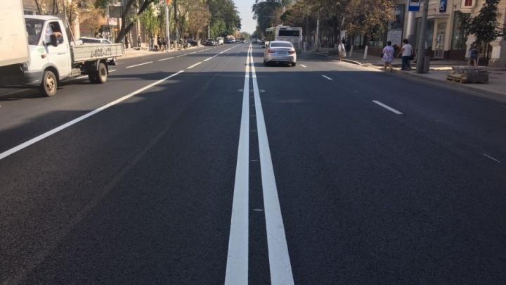 В Ростове завершается ремонт дороги и тротуара на Большой Садовой