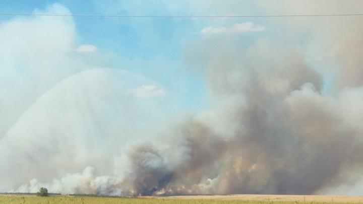 Пожар в Быковском районе локализован и больше не представляет опасности