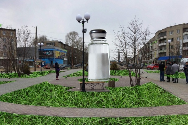 Гигантскую солонку установят в Березниках на Торговой площади