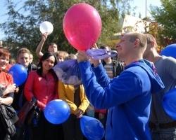 В Волгодонске прошел флешмоб ко Дню работника атомной промышленности