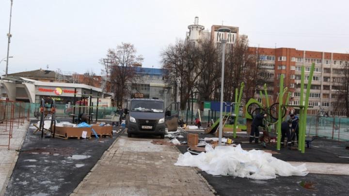 На площади Юности появится еще один городок с качелями-ежиками