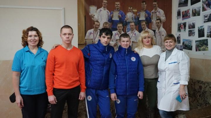 В Ширшинском и Новодвинском интернатах появилось новое спортоборудование