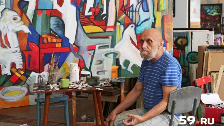 Мастерские пермских художников: где рождаются картины Юрия Лапшина