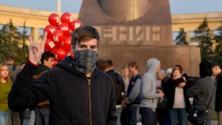 Больше сотни навальновцев скандировали в Волгограде антиправительственные речевки