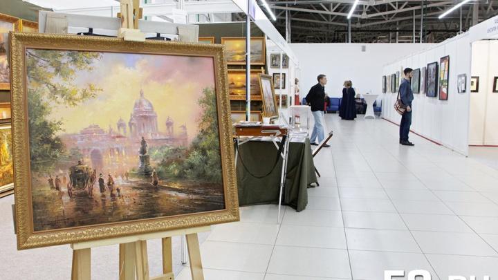 Рисование вином, качели и концерт: рассказываем об открытии выставки «Арт-Пермь»