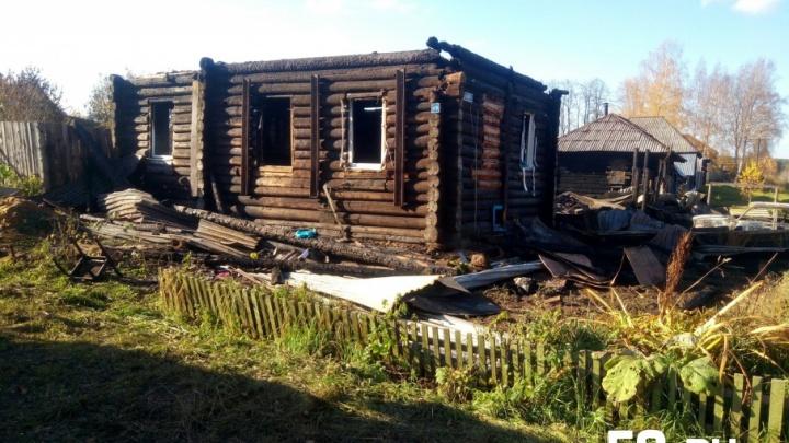 Житель Верещагино погиб, спасая дочь из горящего дома
