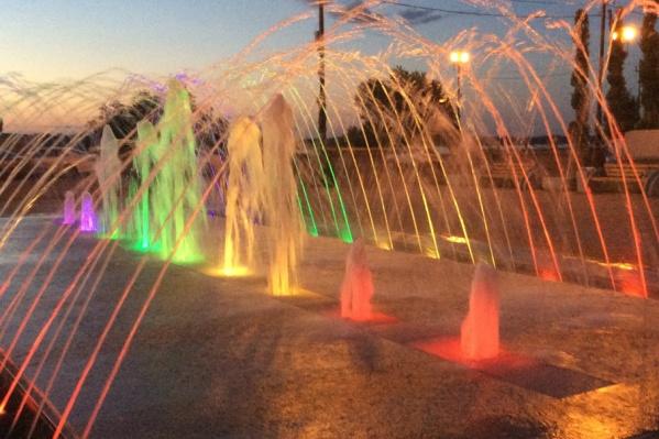 Парк в Красноармейском районе обзавелся красивейшим фонтаном