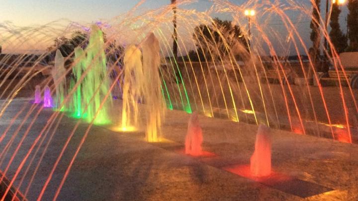 В Красноармейском районе протестирован новый фонтан