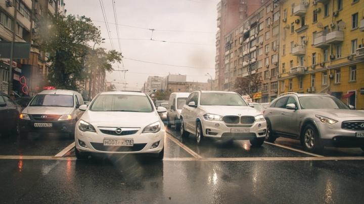 В Ростове самая длинная пробка на этой неделе растянулась почти на семь километров