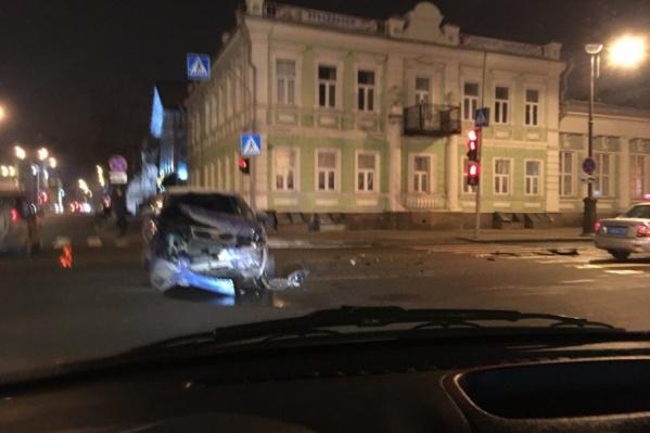 Авария произошла в воскресенье около 19:00