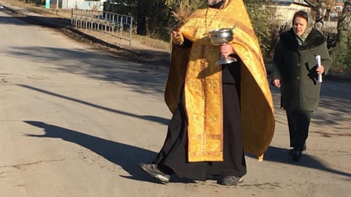 В Самарской области освятили опасный перекресток