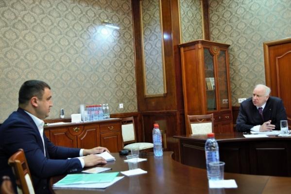 Накануне Арам Мачкалян встретился с главой Следственного комитета Александром Быстрыкиным