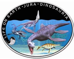 Северный банк предлагает драгоценные монеты с изображением динозавров