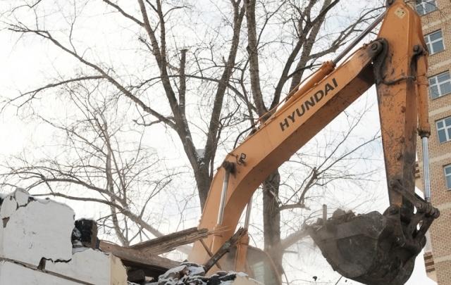 При обрушении дома в Лысьве пострадал рабочий