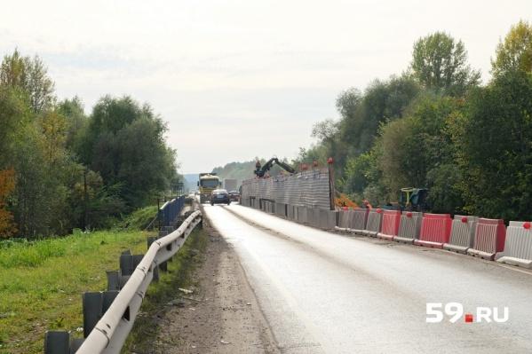 Ремонт моста через Сюзьву должен быть завершен 20 сентября
