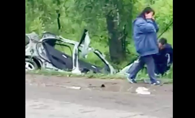 В сети появилось видео страшной аварии с Mercedes в Рыбинске