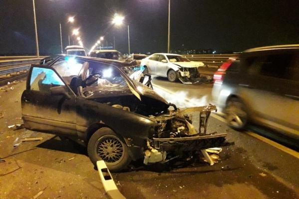 Авария произошла в пятницу вечером