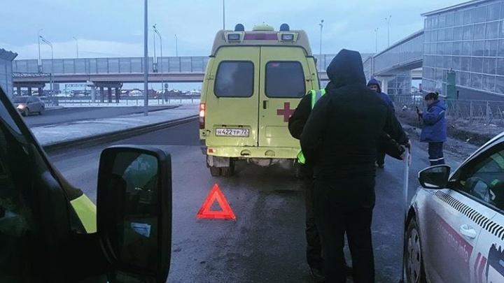 На Пермякова машина скорой, ехавшая на срочный вызов, столкнулась с такси