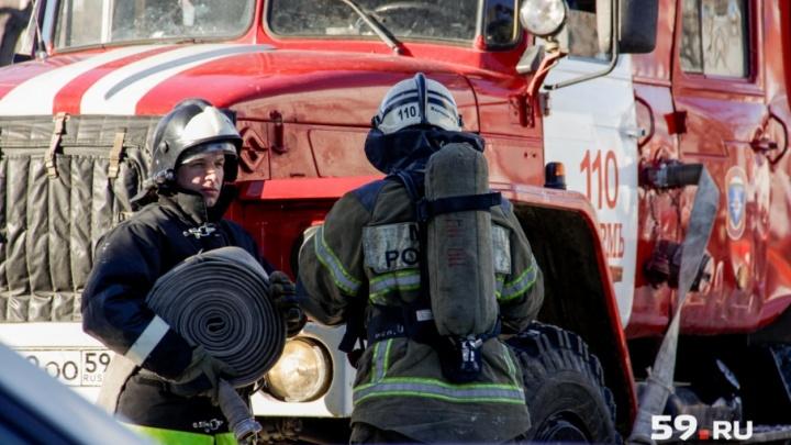 В Чайковском пожарные вывели людей из горящей девятиэтажки