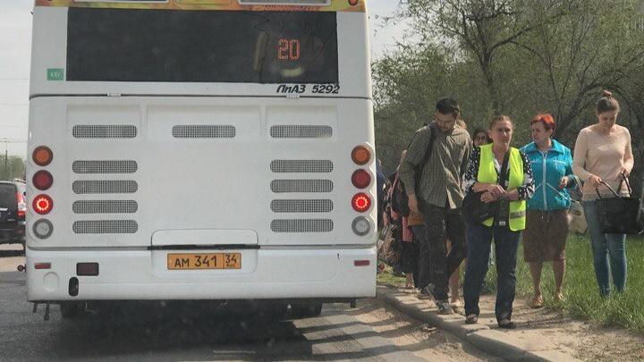 В Волгограде в час пик заглох новый автобус
