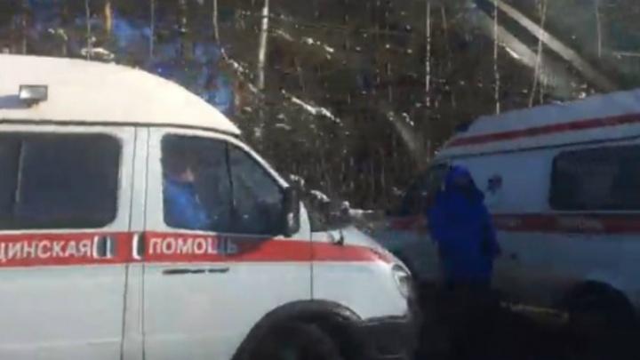 В Ярославле машина скорой помощи с пациентом попала в ДТП
