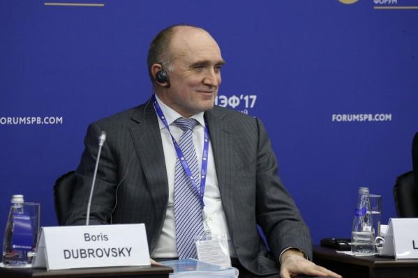 О визите на Южный Урал руководство «Фольксваген Груп Рус» договорилось с Борисом Дубровским на экономическом форуме в Петербурге