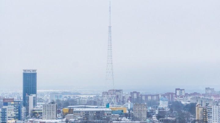 С новой телебашни в Перми сняли антенну