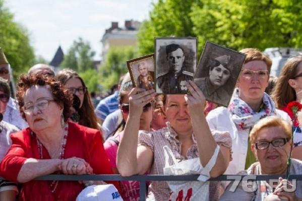 Участники «Бессмертного полка» в Ярославле в прошлом году