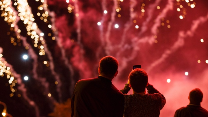 День России в Волгограде завершился красочным фейерверком