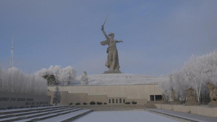 Скованный холодом и молчаливый: волгоградец прогулялся по заснеженному Мамаеву кургану
