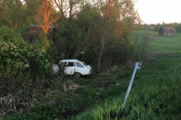 Авария в селе Вятское