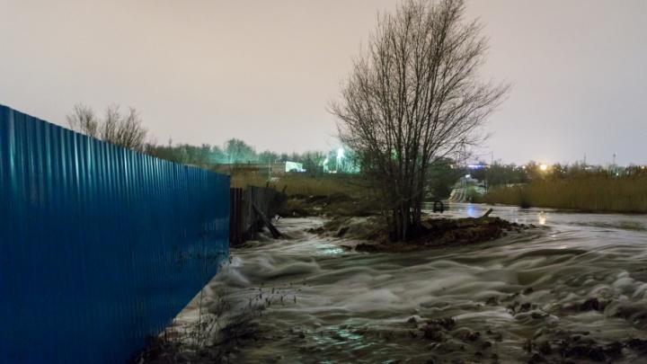 Дома в Дзержинском районе Волгограда уходят под воду в пойме Царицы
