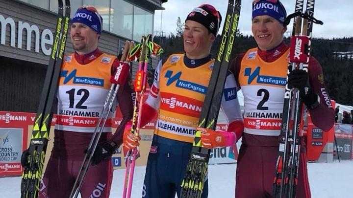 Тюменский лыжник Александр Большунов занял третье место в спринте на этапе Кубка мира
