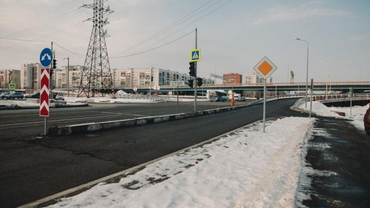 На развязке по улице Монтажников осталось построить еще один съезд